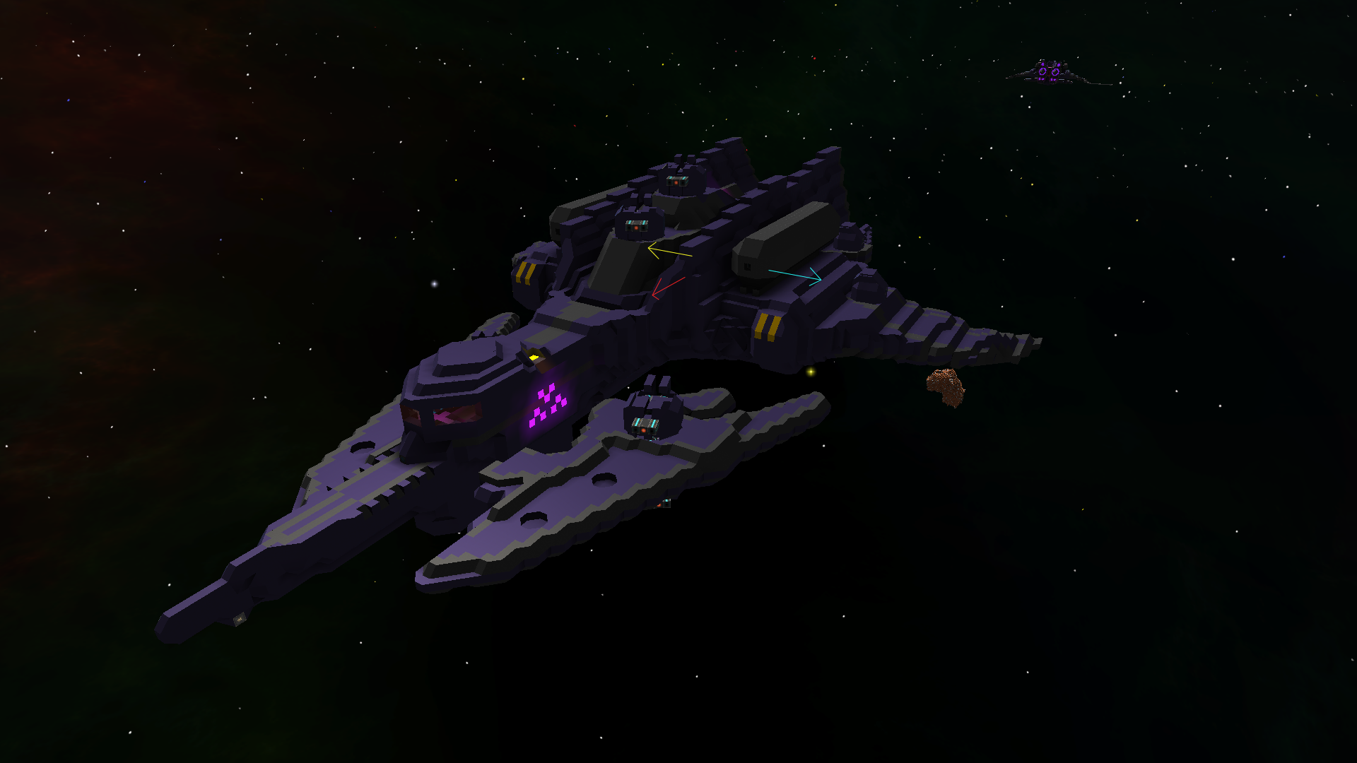 Morrigi Cruiser Combat Mode Iso View